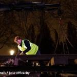 """Installation du Tram Fret à Stalingrad pour l'exposition """"Paris de l'Avenir"""""""
